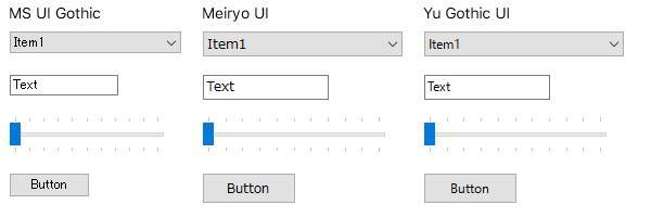 Windowsフォームのコントロール比較